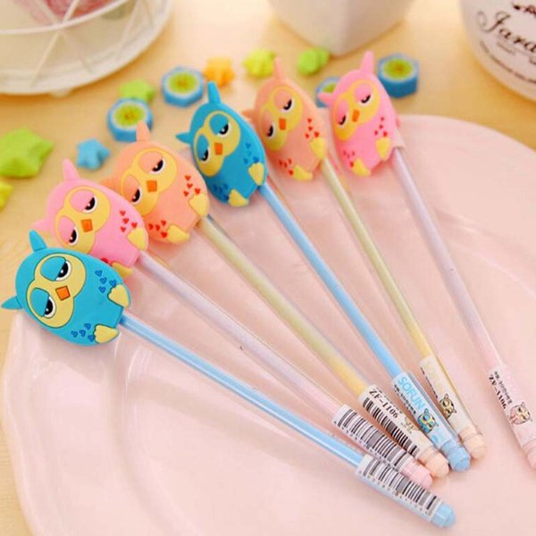 15pcs/lot Cute Cartoon Gel Pen Pens School Supplies Stationery Christmas Novelty Gifts Prize Writting Office Supply Pen Material Escolar