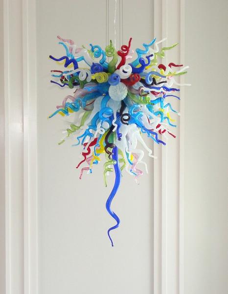 100% Mouth Blown CE UL Borosilicate Murano Glass Dale Chihuly Art Chandelier Lights Glass Ball Led Pendant Lighting
