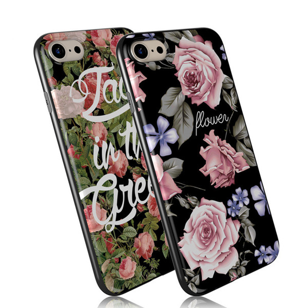 Custom Made Picture Printting Flower Pattern Customize Your Own Designs Soft TPU Rubber Back Cover Case for Apple iPhone 7 7Plus 6S 6SPlus