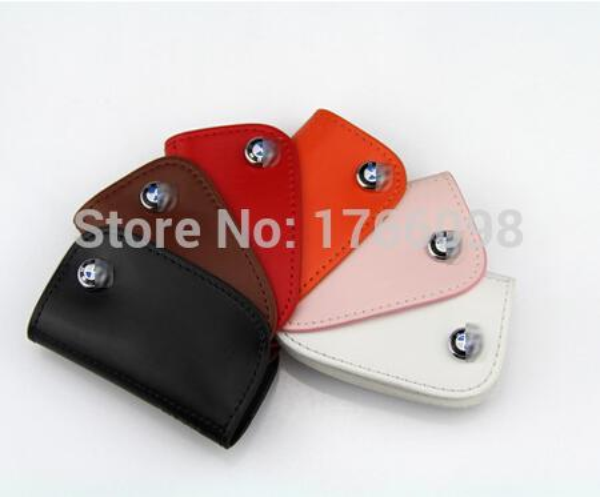M logo leather car key case For BMW M1 M3 M5 M6 E90 F05 F10 F20 F30 X1 X3 X5 X6 116I 118I 125I 730li 520i 535i 320I 325I AP-027