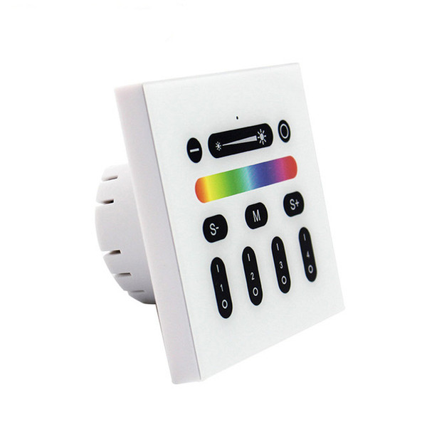 2.4G LED Controller RGBW Mi Light Wireless RF Remote Dimmer Switch 4 Zone Wall Mount Panel Switches for MiLight Series LED Lights Lamp Bulb
