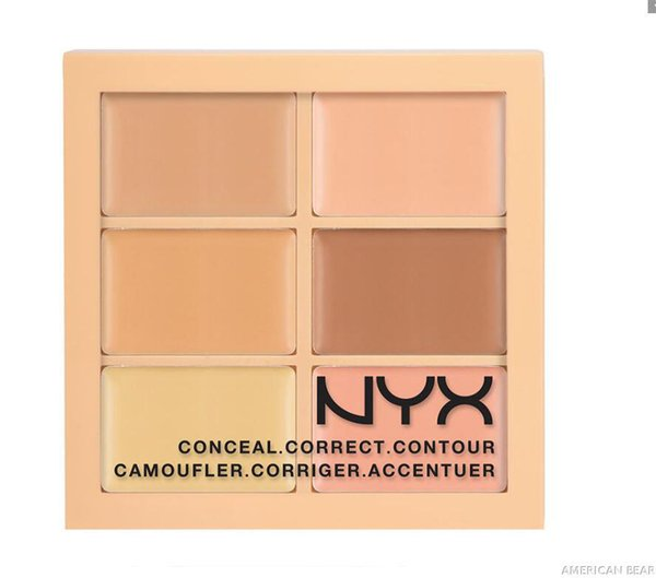 6 Colors NYX Concealer Makeup Conceal Correct Contour Palette Brand Face Beauty Cosmetic Cheap Price On Sale Free Shipping