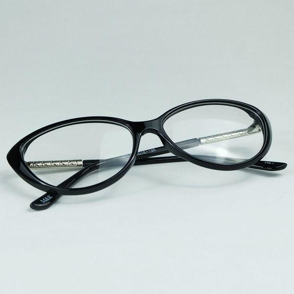 All'ingrosso Crescent Style Cateye Frame metallo rombico plaid gambe con intere canne Ottici occhiali realizzati per Sexy Lady