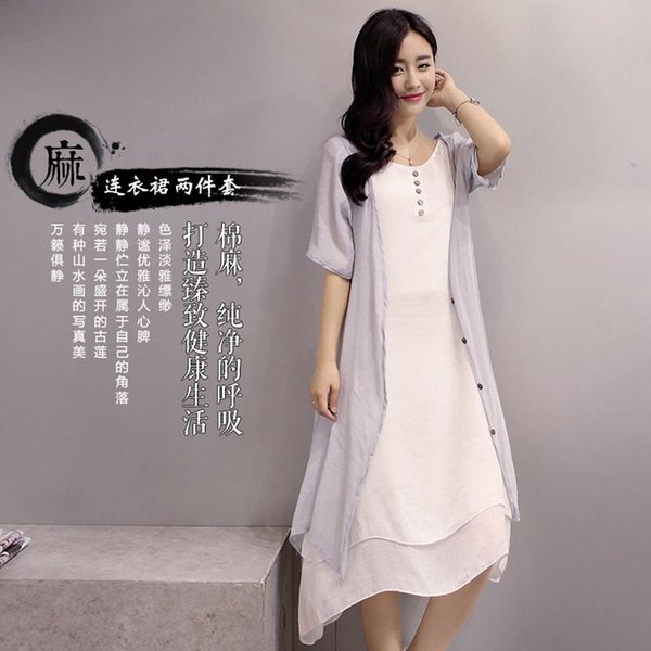 Best 2016 Plus Size Set Women Autumn Dress Casual Asymmetrical Korean  RN95