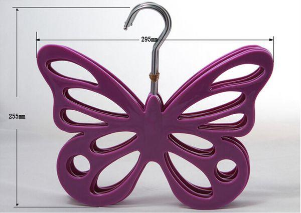 Moda Beatuful Butterfly Velvet Hanger para colgar bufanda Lencería cinturón corbata clave jewelryuse en Home Store Supermaket