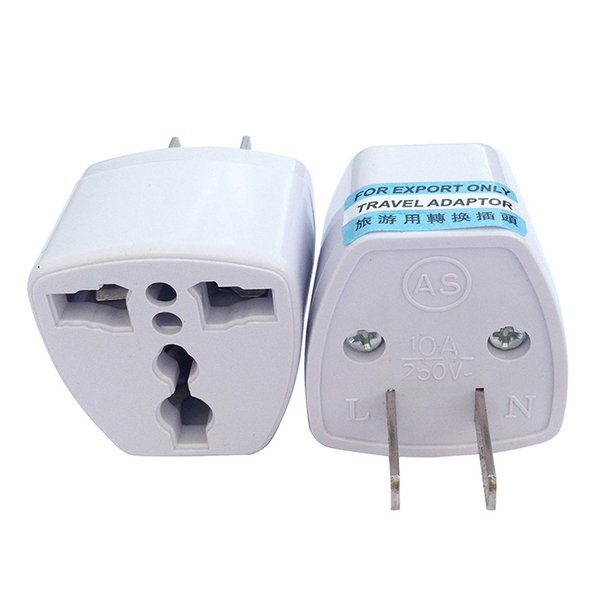 best selling High Quality Travel Charger AC Electrical Power UK AU EU To US Plug Adapter Converter USA Universal Power Plug Adaptador Connector(White)