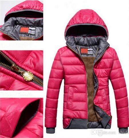 top popular Wholesale-2018 new Women's Down & Parkas female models sport coat plus velvet down jacket women's winter warm hooded jacket Removabl 2019