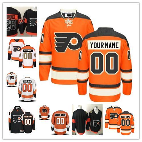 7c9abf10aa7 Stitched Personalized Philadelphia Flyers Custom Mens Women Youth Hockey  Jerseys Home Orange White 50th Gold Black