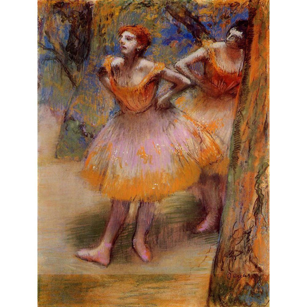 Portrait art woman Two Dancers by Edgar Degas Oil Painting modern High quality Hand painted