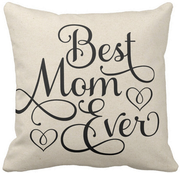 Lovely Throw Pillow Case Best Mom Ever Squar Sofa and Car Cushions Cover 16inch Beautiful - New Sofa Seat Cushions Style