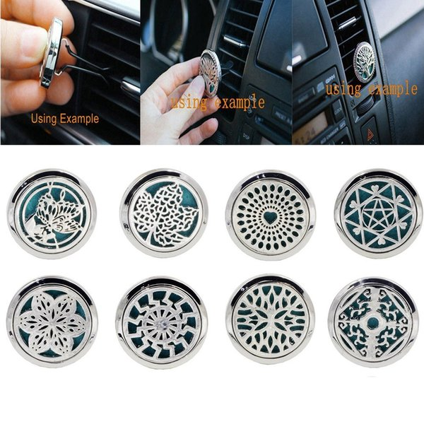 best selling 10 Style Stainless Car Air Vent Freshener Essential Oil Diffuser Best Gift