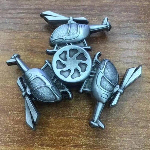 Retro Three Helicopter Fid Spinner Metal Aircraft Hand Spinner