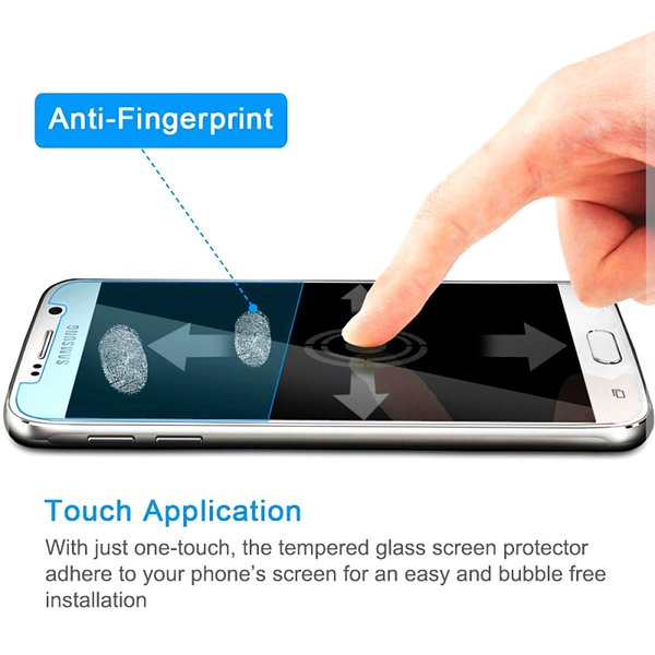 2.5D Arc Edge 9H Hard High 0.33mm Premium Tempered Glass film for Samsung Galaxy S6 5.1 inches Transparent Screen Protector