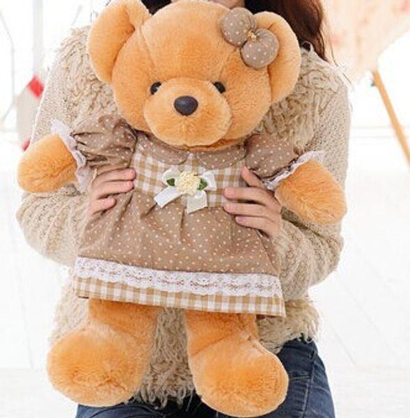 1 piece 51 cm 2015 new arrived brown PP cotton cushion pillow stuffed plush toys baby child girl Valentine birthday gift WJJA
