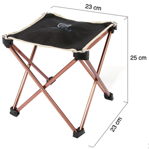 aotu AT6727 Outdoor Foldable Folding Fishing Picnic BBQ Garden Chair Tool Square Camping Stool 7075 Aluminium Alloy Hot Sale