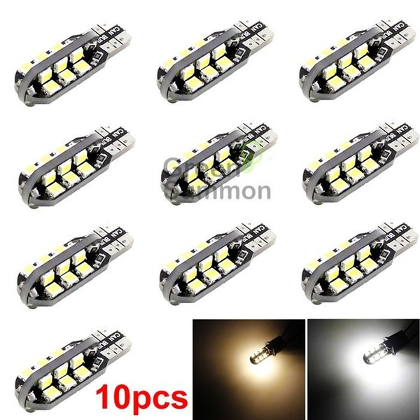 T10 24smd Car Side Wedge Dome Bulb W5W 194 168 2835 LED Warm or White Light