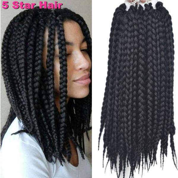 BOX Braids Hair 3s Crochet Braids Hair Havana Mambo BOX Braid Styles 12\'\'  High Quality Synthetic Hair Extension Bulk Weave Human Hair Bulk Hair From  ...