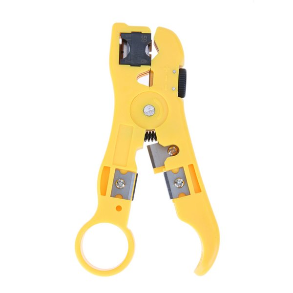 Universal Pliers Cable Wire Stripper Jacket Strippers Cable Cutter Stripping Scissors Tool Yellow Color