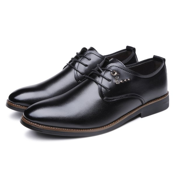 Men's Leather Lace Up Modern Dress Casual Driving Oxfords Shoes