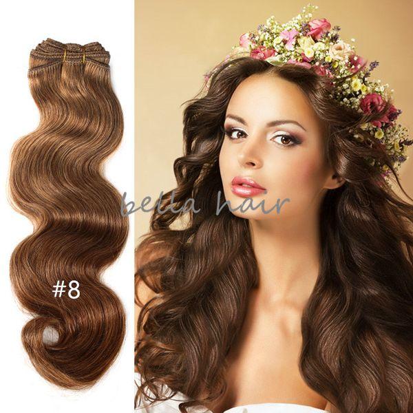 L'estensione malese 3pcs / lot dei capelli dell'onda del corpo del tessuto dei capelli umani del grado 8A di grado di alta qualità libera il trasporto