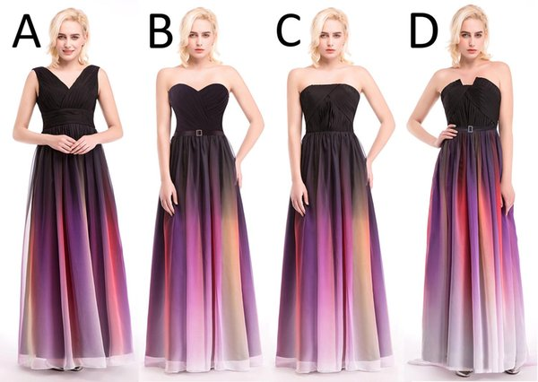 Hottest Elie Saab Ombre Strapless Prom Dresses New A Line Sleeveless ...