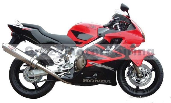 New 100 Fit Injection Molding Fairing Set For HONDA CBR600F4 99 00 CBR 600 F4 FS CBR600FS 600F4 1999 2000 Cool Red And Black