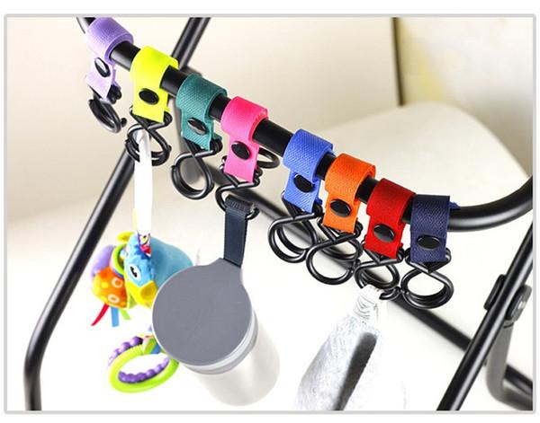 2Pcs Buggy Clip Pram Pushchair Stroller Side Hook Baby Handle Shopping BagOQ