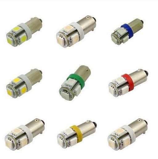 BA9S BA9 T4W 64111 64113 5 SMD 5050 Blanc LED Lampe DC 12V Voiture LED Intérieur Ampoules Lecture Porte Lumière De Voiture