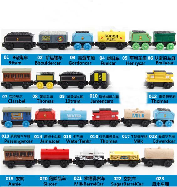 New Wooden Small Trains Cartoon Toys Kids Wooden Toys Trains Friends Wooden Trains Coach Car Toys 50Pcs