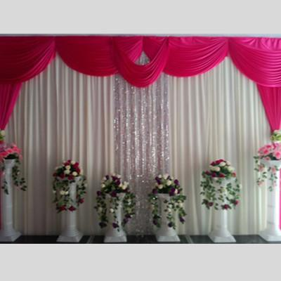 Wedding Supplies Backdrops Curtain Sequins Ice Silk wedding background Decoations material scene decorative curtain with Swag