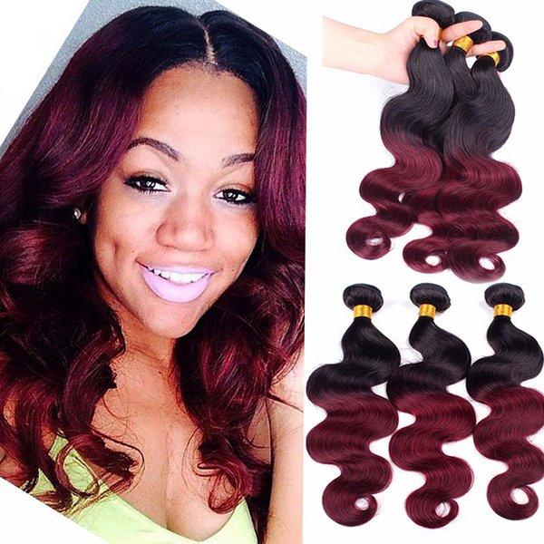 Cheap peruvian burgundy ombre hair weaves body wave 1b99j wine peruvian burgundy ombre hair weaves body wave 1b99j wine red two tone colored pmusecretfo Image collections