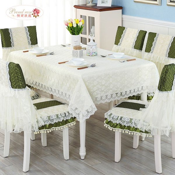 1 piece modern rural bud silk fabric cloth fashion lace tea table cloth dinner