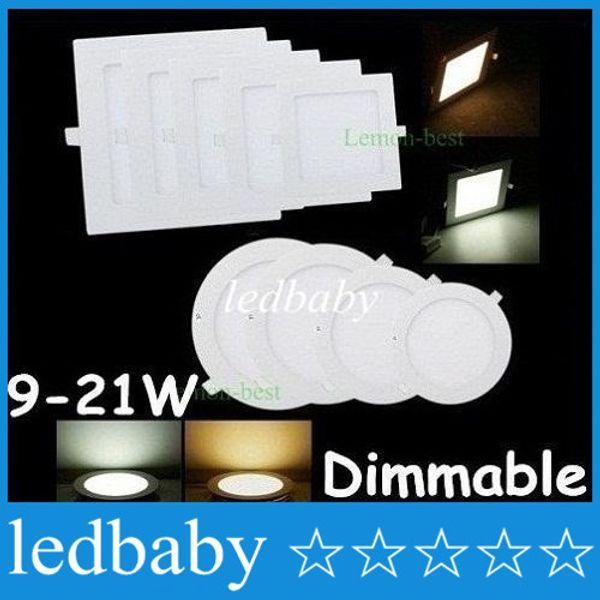 ce ul SAA Затемняемый светодиодные панели огни ультра тонкий 9 Вт 12 Вт 15 Вт 18 Вт 25 Вт светодиодные встраиваемые потолочные светильники кухня лампа с драйверами