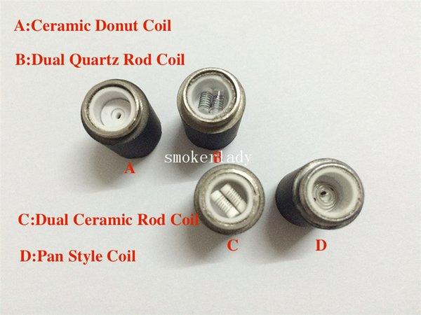 Skillet Ceramic Rod Coils Skillet Atomizer quartz Core Wax ceramic donut Coil Head for replacement Skillet Wax tank vs cannon coil