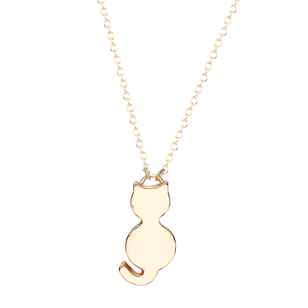 10pcs/lot Lovely Silver Necklace Gift for Women Girls Tiny Cute Cat Pendants Fancy Jewelry Charm Friendship Pendant