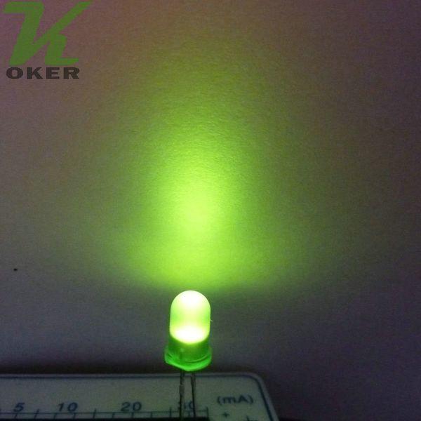 1000pcs 5mm green diffused LED Light Lamp led Diodes 3mm Diffused greenUltra Bright Round LED Light Free Shipping