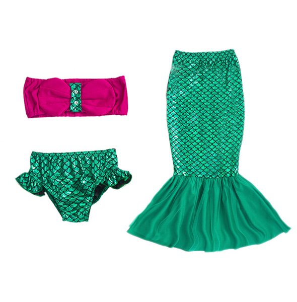 fd73d595be ... Bikini Set Swimsuit Maiô 2-9Y Crianças Mermaid Swimwear. Item esgotado