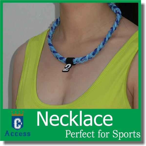 HOT! Moda jóias 3 corda trança colares muitas novas cores esportes Titanium OEM o tamanho