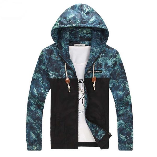 Giacca floreale da uomo Plus Size 5XL Jaqueta Military Men Giacca a vento Giacche e cappotti Sportswear Impermeabile da uomo Winter Outdoor