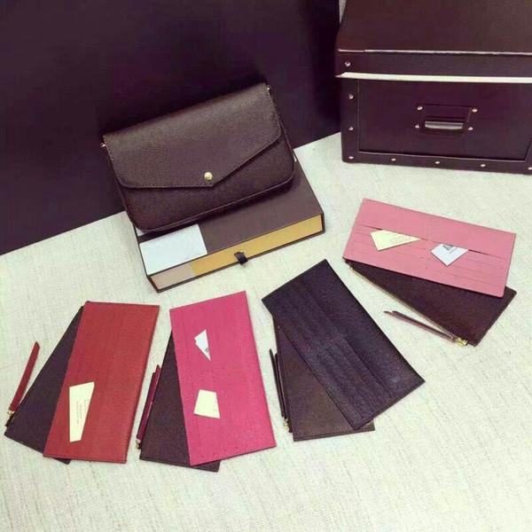 best selling 2018 Orignal real Genuine leather fashion chain shoulder bag handbag presbyopic mini package messenger bag mobile card holder purse felicie