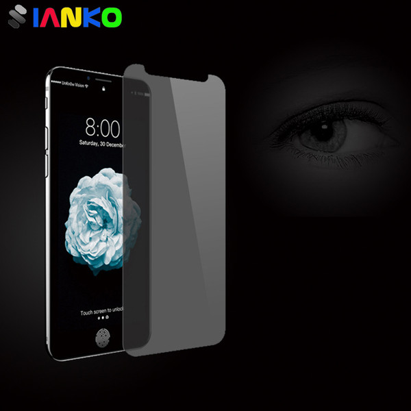 Privacy Screen Protector for iPhone X 9H 2.5D Crash Proof Anti-glare Tempered Glass Shield film For iPhone X 8-7-6 /Plus