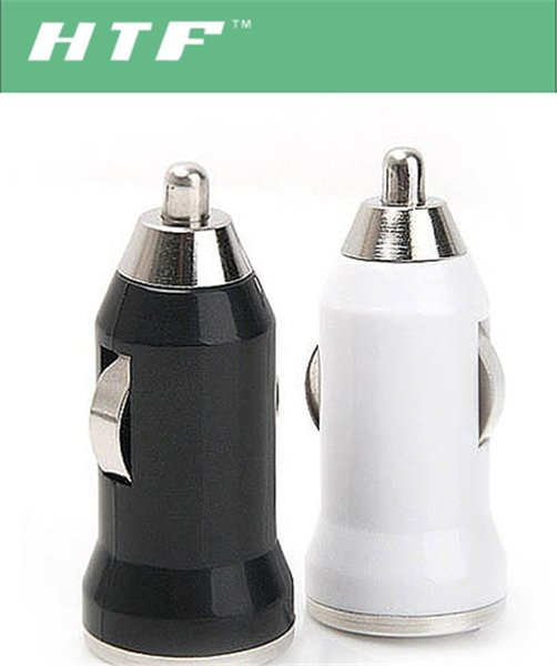 Mini USB Car Charger Bullet USB Charger USB Power Adapter For iphone 5 4 6 Cell Phone PDA MP3 MP4 Player i9500 s3