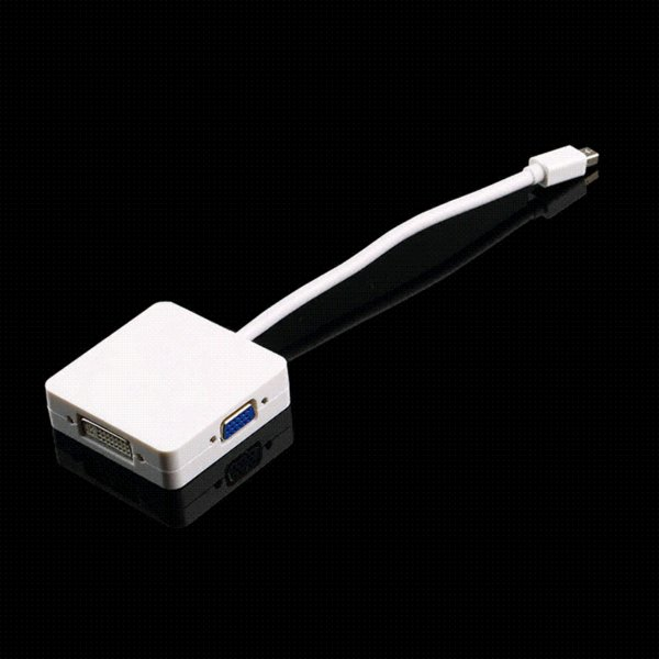 Sale 1pc 3 in 1 Mini DP Displayport Thunderbolt to HDMI DVI VGA Adapter for MacBook Drop Shipping