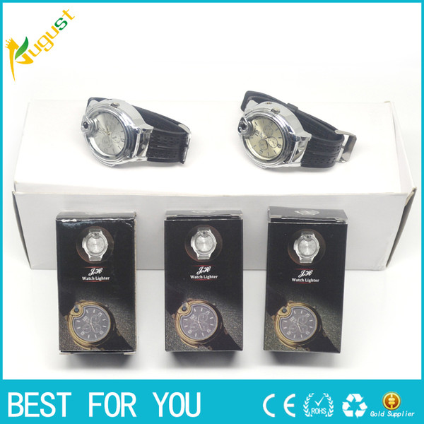best selling watch gas lighter smoking metal pipe e cigars New Novelty Collectible Watch Cigarette gas Lighter,Shipped With Tracking Number