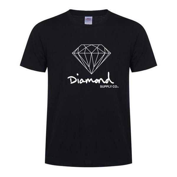 Diamond Supply Co New Summer Cotton Mens T Shirts Fashion Short-sleeve Printed Male Tops Tees Skate Brand Hip Hop Sport Clothes D15