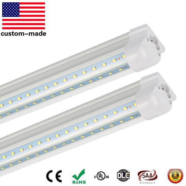 T8 V-Shaped Led Tube Lights 2FT 3FT 4FT 5FT 6FT Integrated Cooler Door Led Fluorescent tube light Double Glow lighting Cold White FEDEX
