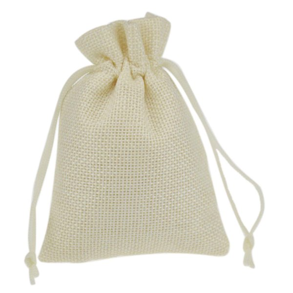 9x12cm Printed Jute Bag Burlap Bag Gift Bag Linen Gift Bag Wedding Favor Pouches Drawstring Pouches Small Jewelry bags craft packaging