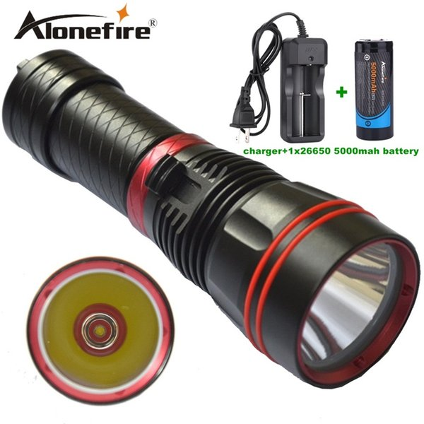 Alonefire DX1S 1SET Diver Flashlight LED Torch cree xm-l2 constant current 26650 rechargeable batteries Underwater Diving Light Lamp