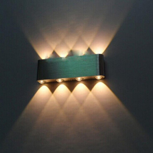 Applique murale moderne à LED, applique murale extérieure, 6W 8W, éclairage de mur en hauteur, AC85V-265V, applique murale, blanc chaud