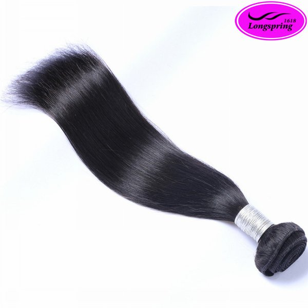 Natural Black 100% Peruvian Human Hair Unprocessed Top Hair Sliky Straight Best Quality Bleachable No Shedding Double Weft 1 piece lot